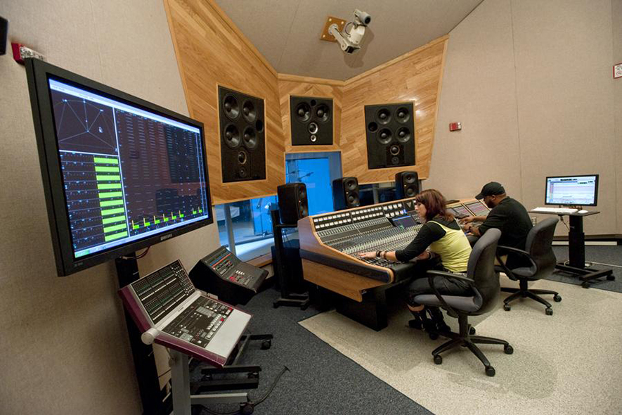 Student collaboration in MTSU's Studio A using API Vision large format console